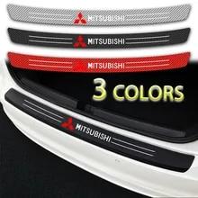 Car Carbon Fiber Rear Bumper Protector for Mitsubishi ASX Car Trunk Protective Anti-Scratch Anti-Collision Rear Guard Bumper Protectorhid Scratches Car Styling Accessories