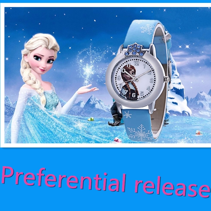 Hot Style Ice Princess Children Watch The Boy Girl Waterproof Quartz Watch Lovely Cartoon Pupil Watches
