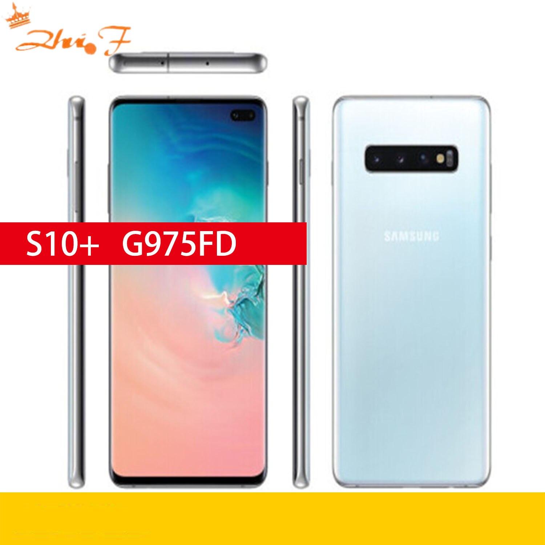 Samsung Galaxy S10 + g975F/D S10 плюс 8 Гб оперативной памяти 128 Гб мобильный телефон Dual sim карты Octa Core 6,4
