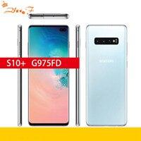 Samsung Galaxy S10 + g975F/D S10 8GB RAM 128GB teléfono móvil tarjeta sim Dual Octa Core 6,4
