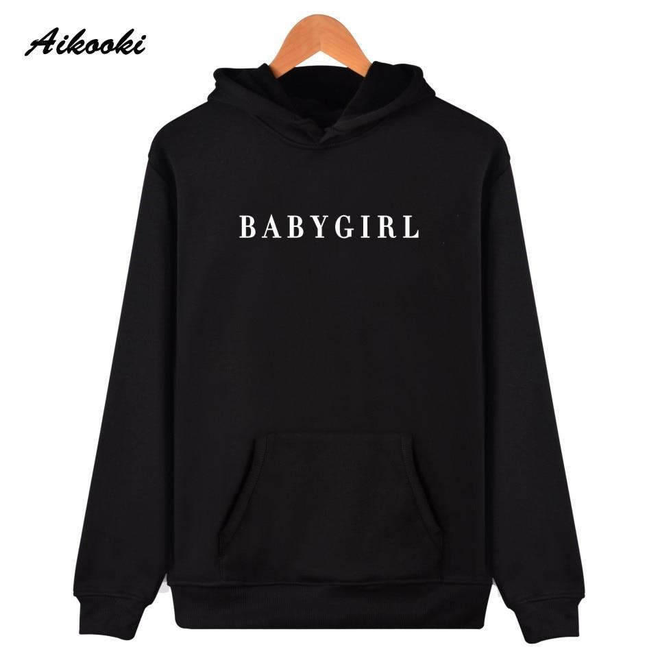 BABYGIRL Harajuku Hoodies Women/Men Survetement Femme  Brand Clothing Tracksuit BABYGIRL Casual Sweatshirts Oversized