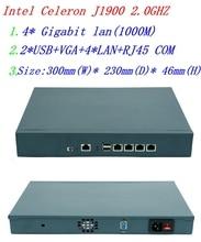 Сервер брандмауэра с celeron J1900 2,0 ГГц 4 * intel 1000M 82583 в Поддержка Lan Panabit Wayos ROS Mikrotik PFSense