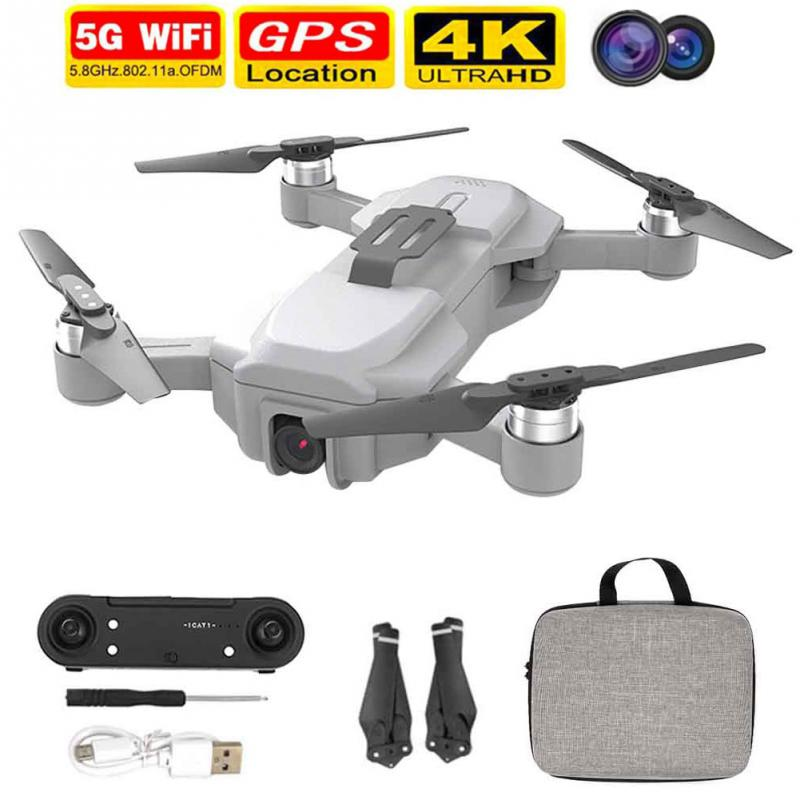 GPS Foldable Quadcopter Brushless Motor 4K Camera RC Drone Adults 2 4GHz Headless Mode WIFI Mini Toy Professional One Key Return
