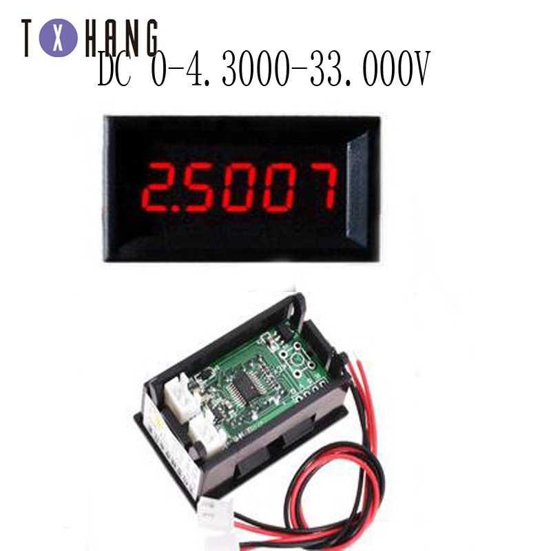 تيار مستمر صغير 5 أرقام الفولتميتر مقياس التيار الكهربائي تيار مستمر 0-33.000 فولت الجهد الحالي فولت أمبير رصد كاشف اختبار الطاقة منتج إليكتروني