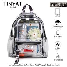 TINYAT Clear PVC Women Backpack Transparent Swim Backpack Solid Travel School Backpack Bag for Teenage Girls Mochila Children(China)