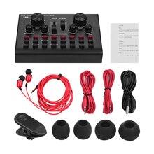 Multifunctionele Live Streaming Geluidskaart Usb Audio Interface Mixer Voice Apparaat Dj Karaoke Apparatuur 16 Effecten Ondersteuning