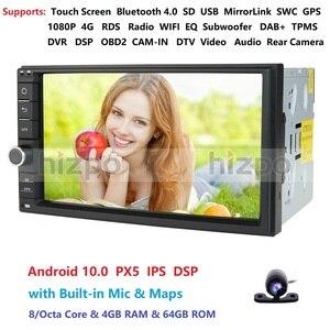 Image 5 - 4GRAM 64ROM 8 Nhân 7 Android 10.0 Tự Động Phát Thanh 2DIN Đa Năng Ô Tô Xe Không Đầu DVD GPS Stereo Âm Thanh đầu Đơn Vị Hỗ Trợ Bluetooth DAB