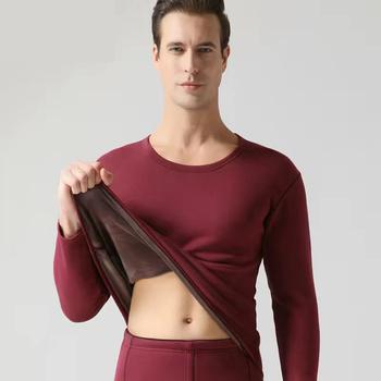 Clothe and Pants Winter Man Velvet Underwear Sets Men Thermo Underwear Long  Winter Clothes Men Thick Thermal Clothing Solid 9