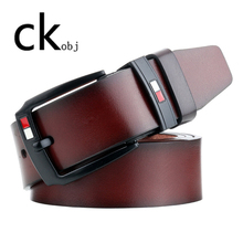 2019 NEW Men's pin buckle belt vintage Men's belt casual lea