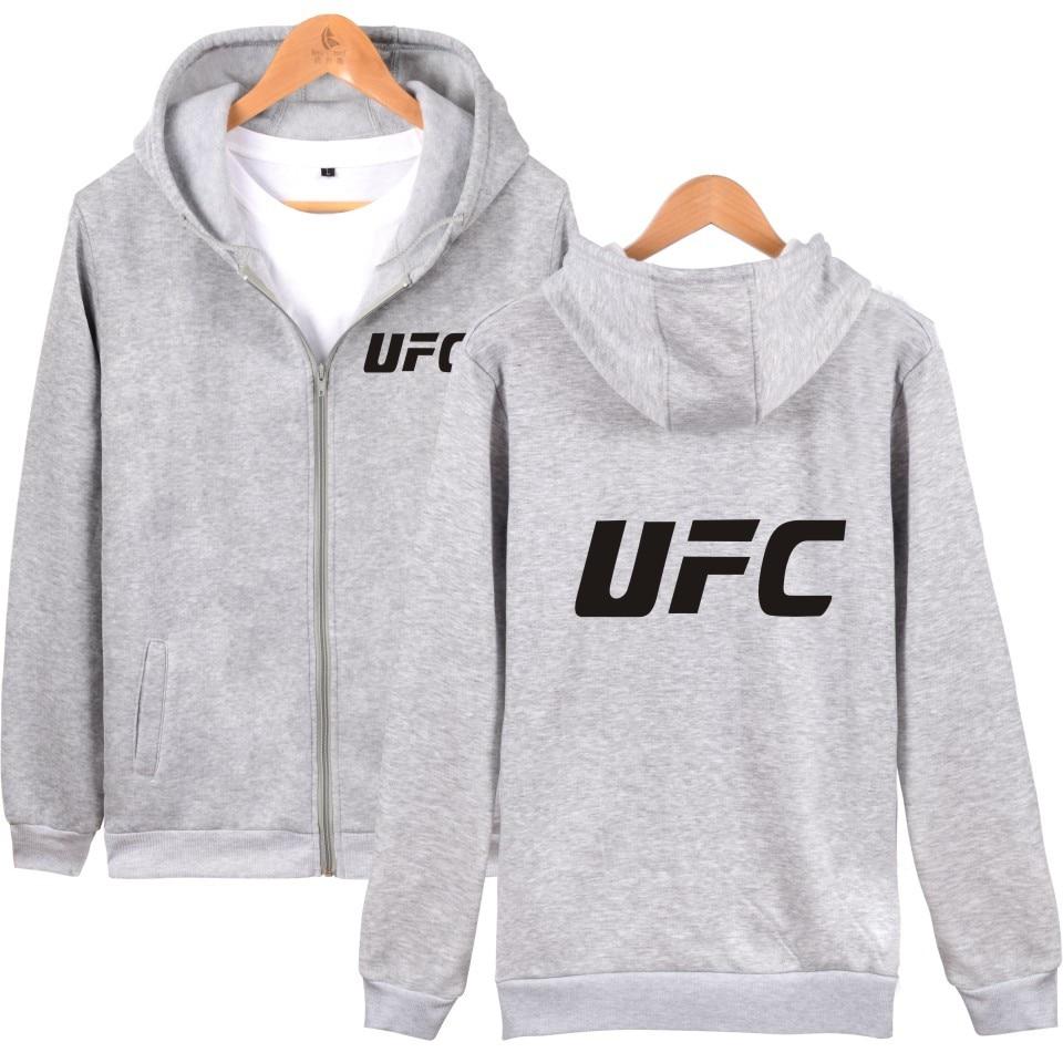 2017 New Style Shelves UFC Fighting Hoodie Men Loose And Plus-sized Zipper Hoodie Couples Men's Sweatshirts & Hoodies