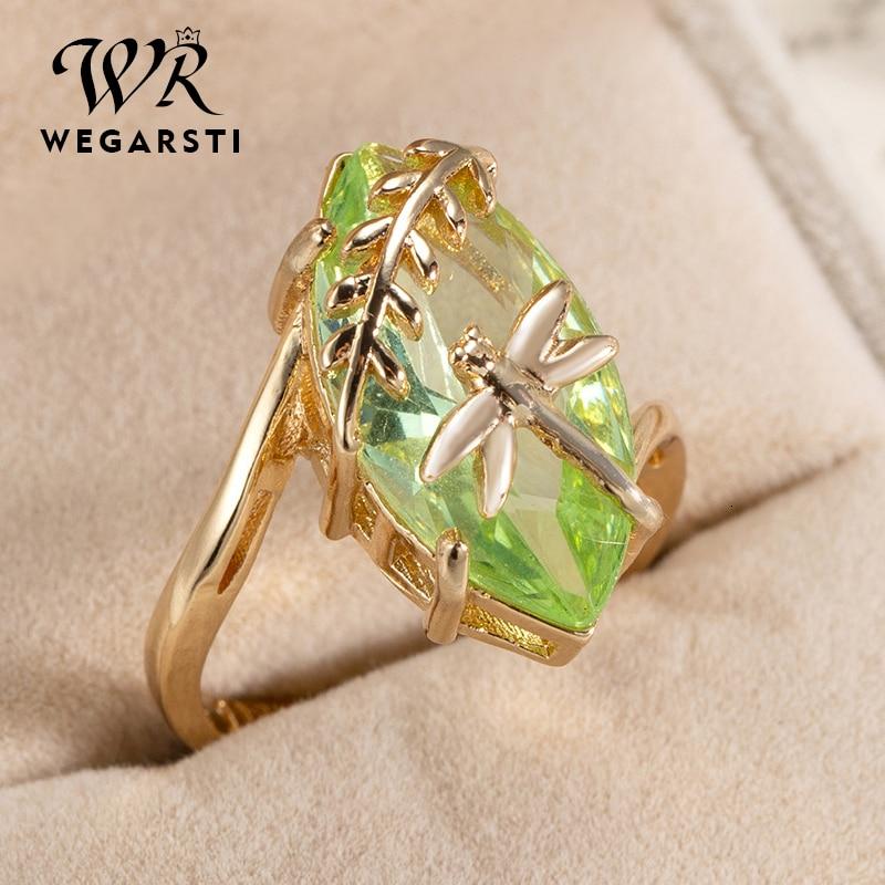 WEGARASTI Silver 925 Jewelry Ring Oval Emerald Gemstone For Women Ring Jewelry Natural Luxury Ring Fine Jewelry Gift
