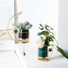 2020 New Creative Hanging Basket Wall-Mounted Ceramic Flowerpot Fleshy Hanging Plant Nordic Style Indoor Balcony Small Flowerpot