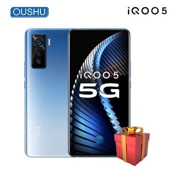 Перейти на Алиэкспресс и купить 2020 новейший оригинальный 5G смартфон IQOO 5 Snapdragon 865 6,56 ''120 Гц Частота обновления экрана UFS3.1 NFC KPL Android 10,0