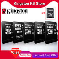 100% Original de Kingston sd micro 128gb 64gb tarjeta de memoria 16 cartao 32gb de memoria sdhc Clase 10 cartes con adaptador Dropshipping. Exclusivo.