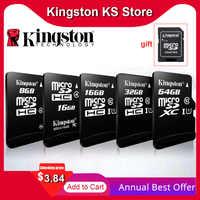 100% Original de Kingston sd micro 128gb 64gb tarjeta de memoria 16 cartao 32gb de memoria sdhc Clase 10 cartes con adaptador Dropshipping. Exclusivo.