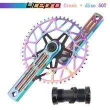 Litepro edge шоссейный велосипед складной шатун с одной звездой