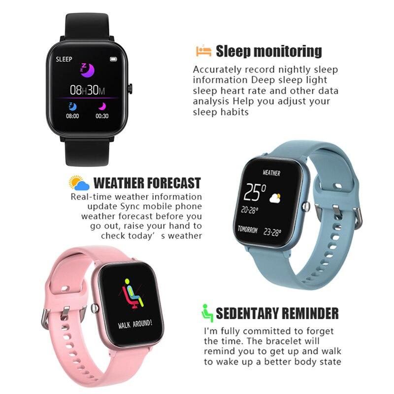 Smart Watch Men Women 2020 Smart Watch Android Fitness Calories Heart Rate Monitor Smartwatch Kids Smart Sport Watch Bracelet 4