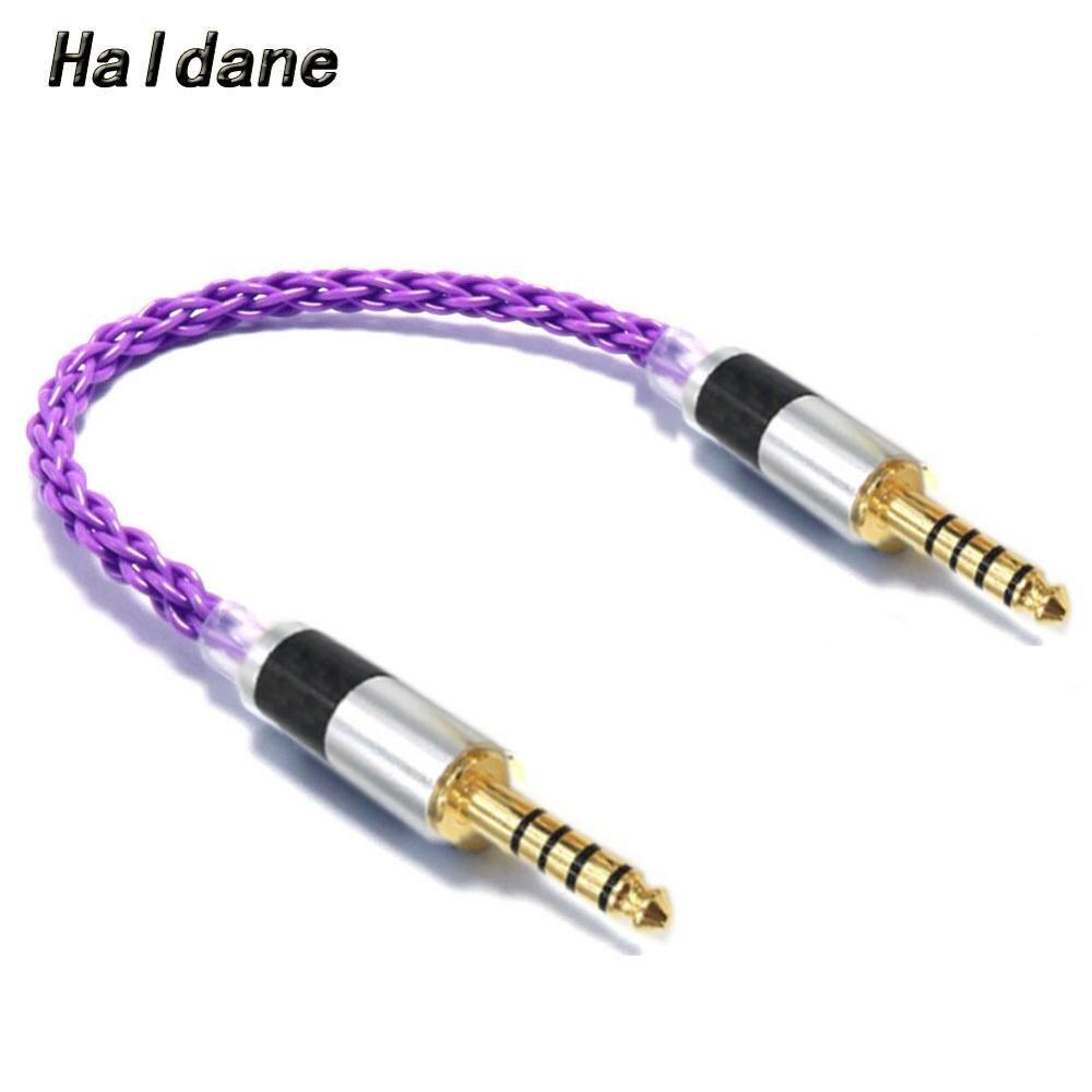Альдейн HIFI 4,4 мм сбалансированный штекер-штекер однокристальный медный посеребренный аудио-адаптер кабель 4,4 мм до 4,4 мм сбалансированный к...
