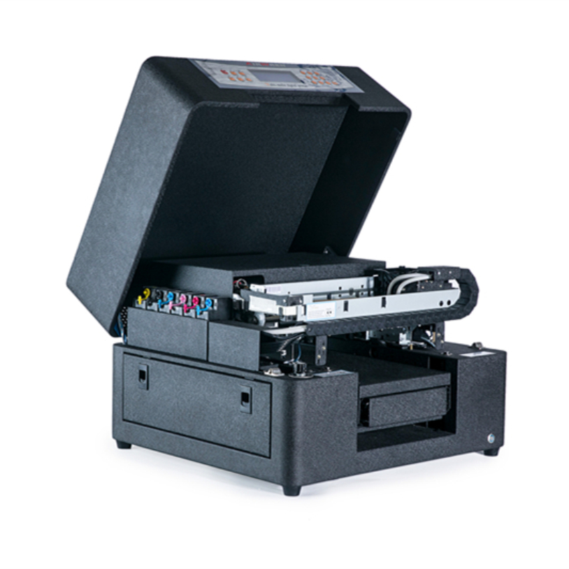 Metal Plastic Glass Wood Uv Flatbed Printer With White Ink