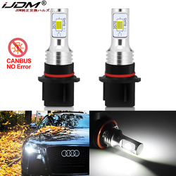 iJDM Car P13W LED Error Free Canbus OEM 12V CSP SH24W LED Bulbs For 2008-2012 Audi A4 Q5 Daytime Running Lights White Yellow
