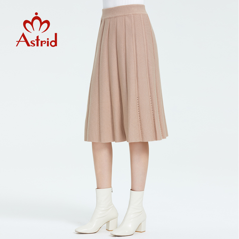 Astrid 2019 Autumn New Arrival Skirts Womens High Quality New Popular Style Top Brown Color  High Waist Long Skirts For Women 91