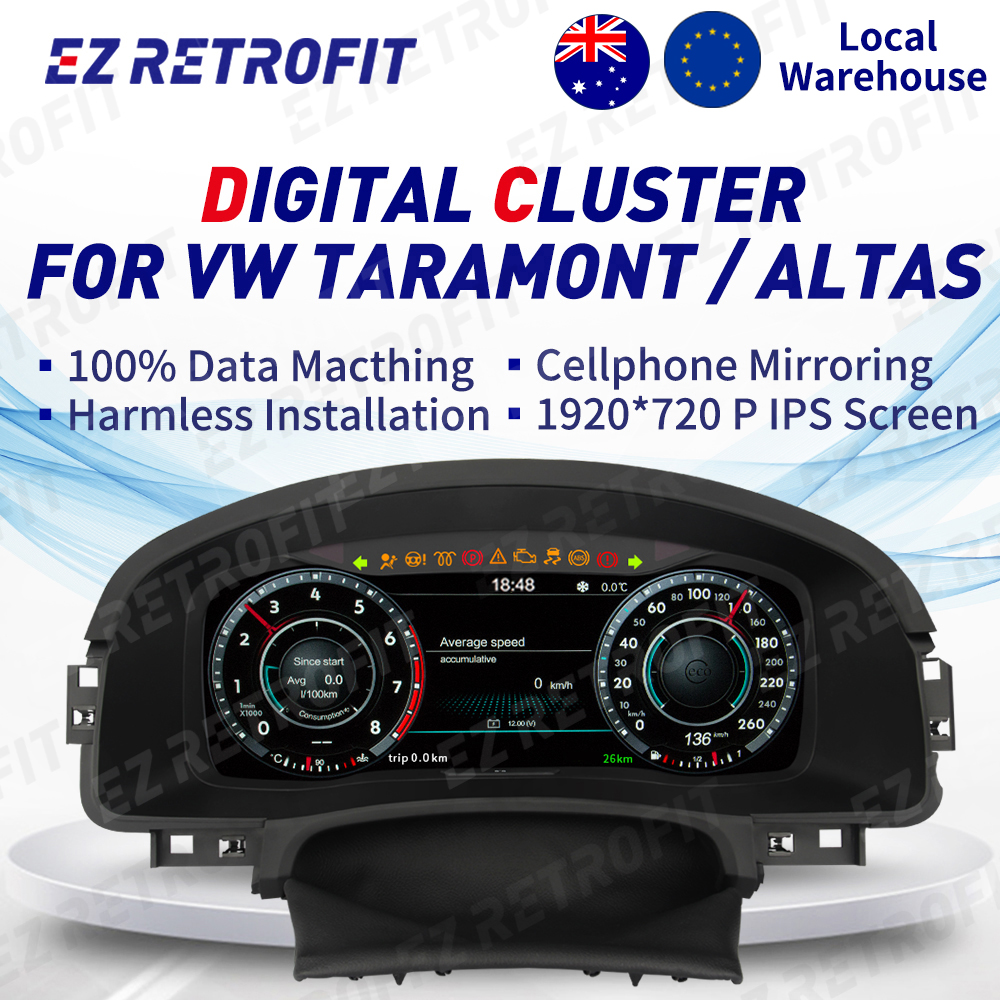 IPS Screen Digital Instrument Cluster Virtual CockPit Digital Dashboard Panel LCD Cluster Headunit for VW Altas Taramont