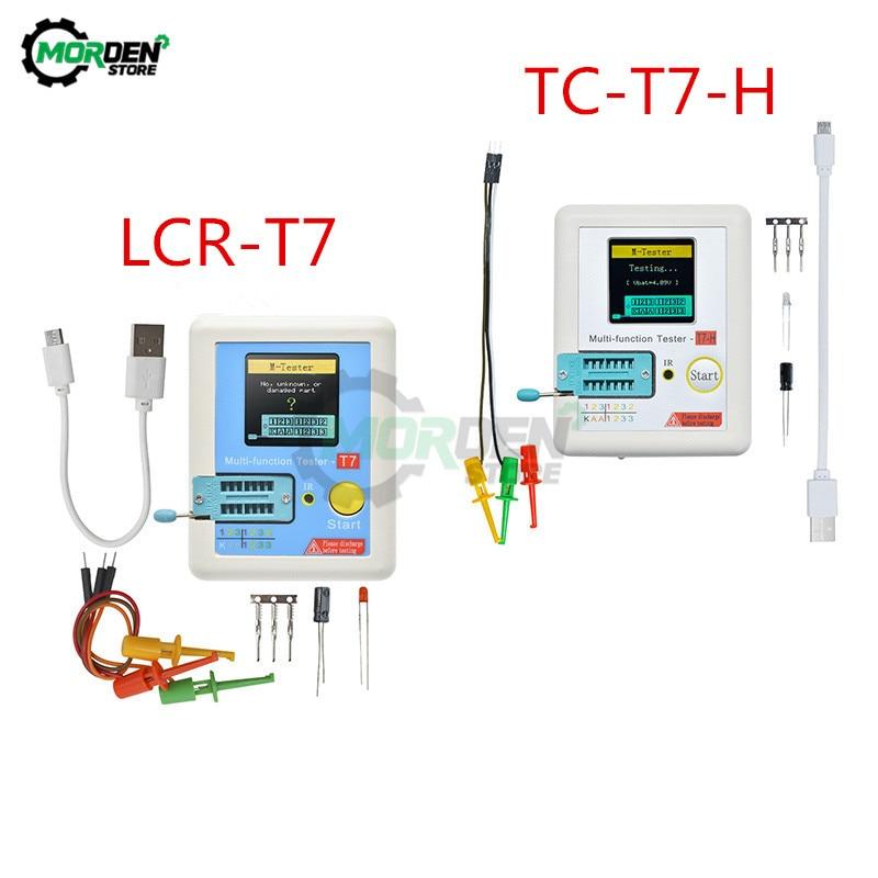 LCR-T7 TC-T7-H LCR-TC1 Multifunctional Diode Triode Capacitance Meter ESR TFT Backlight Transistor Tester LCR Meter Multimeter