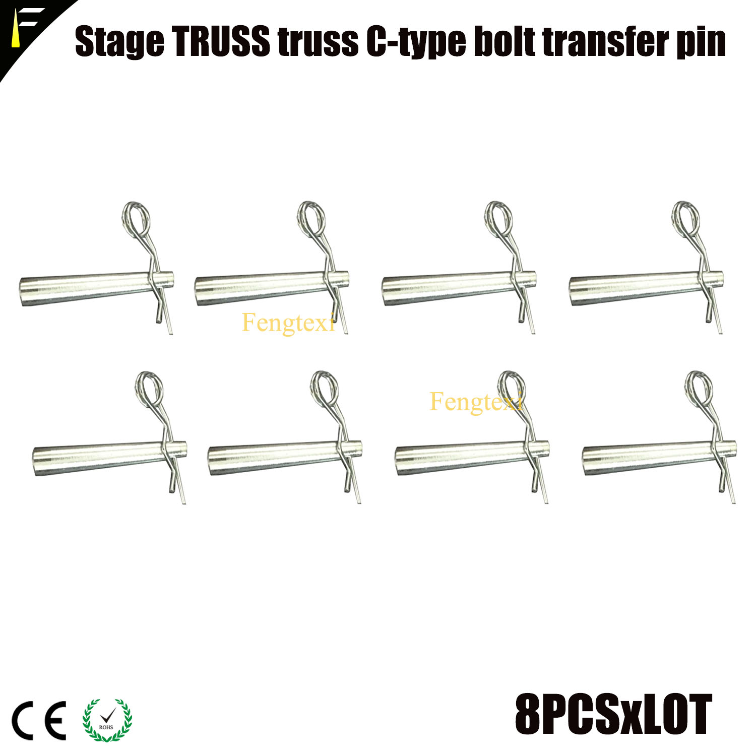 8pcs Stage Truss Latch Bolt Pin Thumb Lock C Type Buckle Light Machine Truss Frame Connector Parts Truss Sleeve Pin Accessories