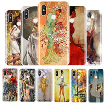 aesthetic yellow oil painting TPU Soft Silicone Phone Case For Xiao MI 4 4S 5 6 5S Plus 5C 6X 8 Pro 8se 8Lite MAX3Pro(China)