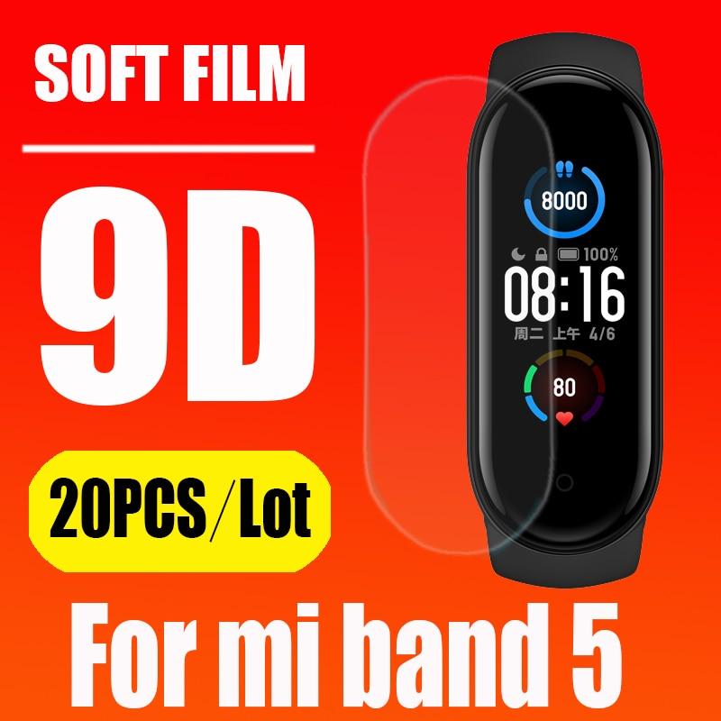 Tam ekran hidrojel Film için XiaoMi Mi bant 5 NFC akıllı bileklik bilezik koruyucu Film Mi Band5 bant 5 değil temperli cam