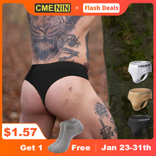 CMENIN Sexy Gay Men Underwear Thong Men Jockstrap Cueca Male Panties Briefs Lingerie Sissy Panties G String 2021 Seamless CM103