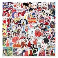 10/50/100 Uds Anime japonés Inuyasha pegatinas de grafiti para el ordenador portátil del cuaderno Ordenador de monopatín equipaje Etiqueta de personajes animados etiqueta engomada