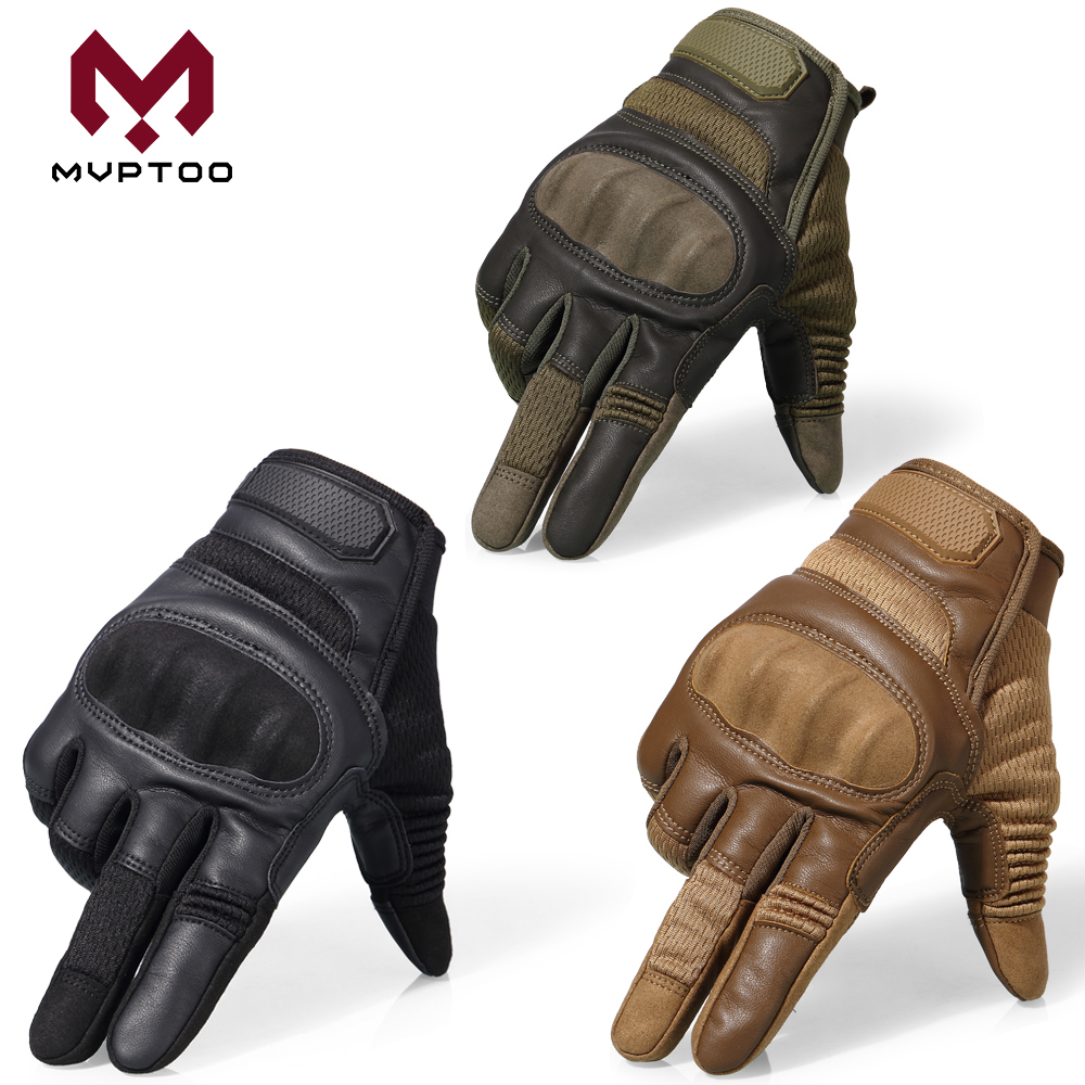 Image 2 - Touch Screen Motorcycle Gloves Moto Motorbike Motocross PU 