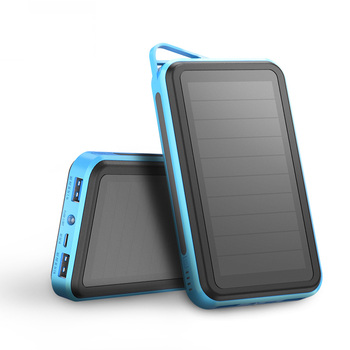 ALLPOWERS Solar Power Bank Dual USB Phone External Battery Powerbank with Flashlight for iPhone Samsung Huawei Xiaomi OPPO Vivo.