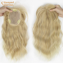 Synthetic-Hairpieces Bangs Wavy Hair Thinning-Hair Blonde Heat-Resistant Clip-In