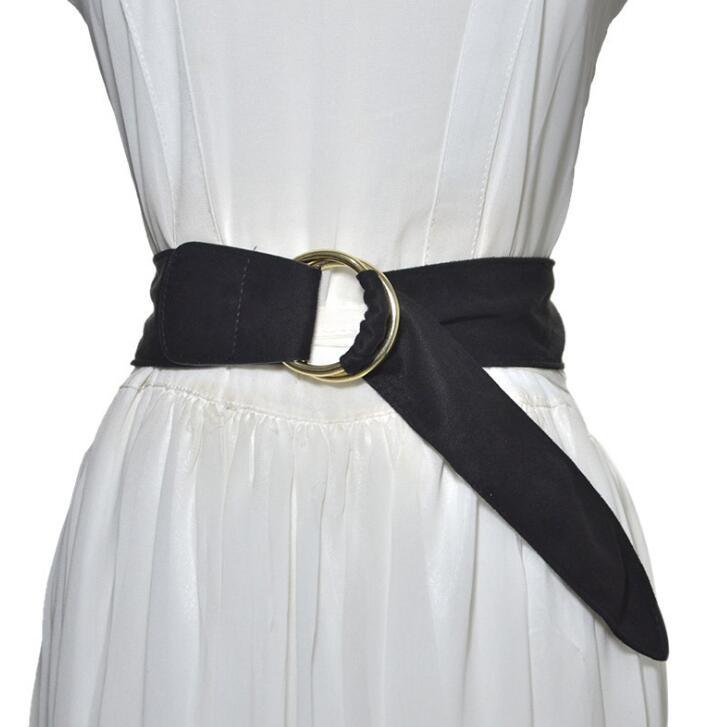Women's Runway Fashion Fabric Cummerbunds Female Dress Corsets Waistband Belts Decoration Wide Belt R2524