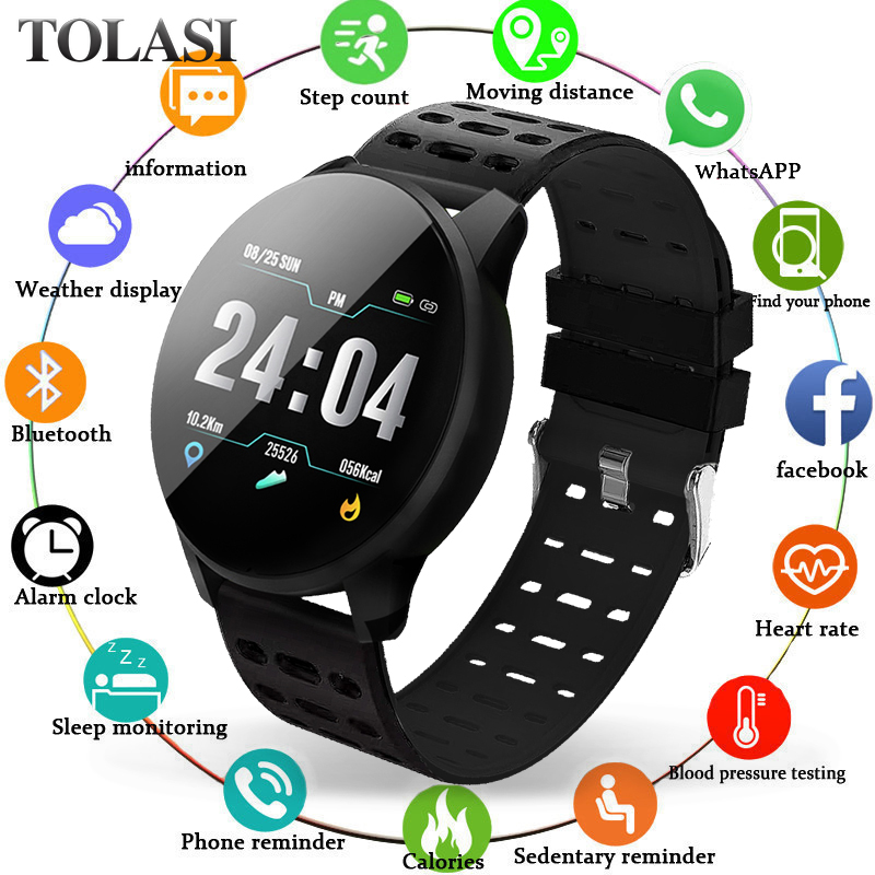 Sport Bracelet Smart IP67 Waterproof Fitness Bluetooth Connection Android ios System Heart Rate Monitor Pedometer Watch
