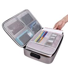 Bolsa impermeable para documentos, organizador de papeles, bolsa de almacenamiento, bolsa para credenciales, bolsillo de almacenamiento para documentos con separador