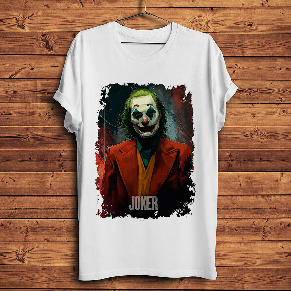 Joaquin Phoenix Joker engraçado camiseta homens 2019 new white homme casuais legal antihero streetwear tshirt
