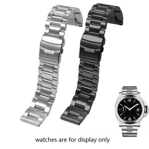 Image 5 - Thickened stainless steel watch strap adapted to Penerai mens steel band PAM111 black replacement chain 22mm 24mm