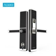 Aqara Smart Door Touch Lock ZigBee Connection WiFi Fingerprint Password Unlock For Home Security Anti-Peeping Design недорого