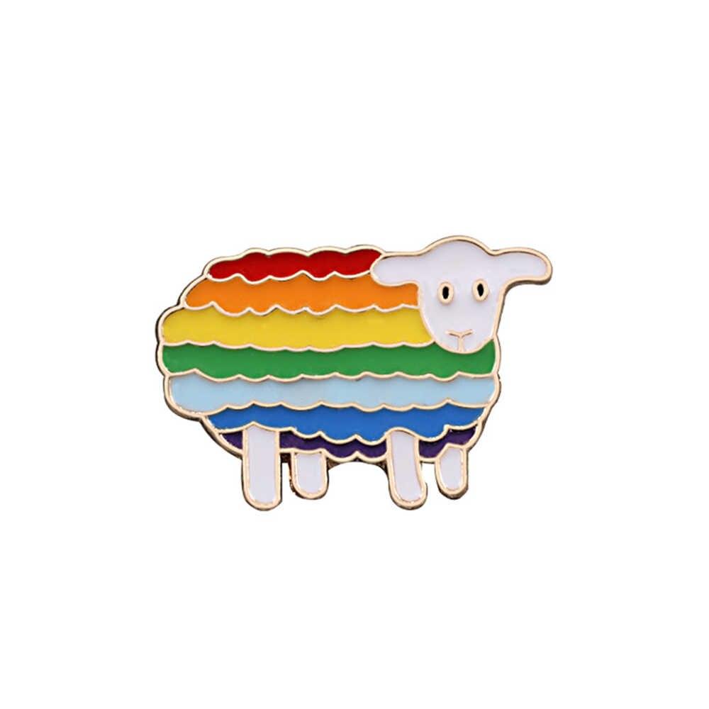 1pc kreatywny tęczowe serce palec flaga miłość jest miłość szpilki broszki LGBT projekt metalowe odznaki duma Lapel broszka biżuteria prezenty