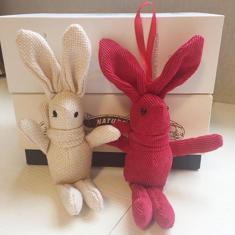 Peluche ours en peluche 18-20CM, mignon lapin robe pendentif poupées cadeaux anniversaire mariage décor de fête 4
