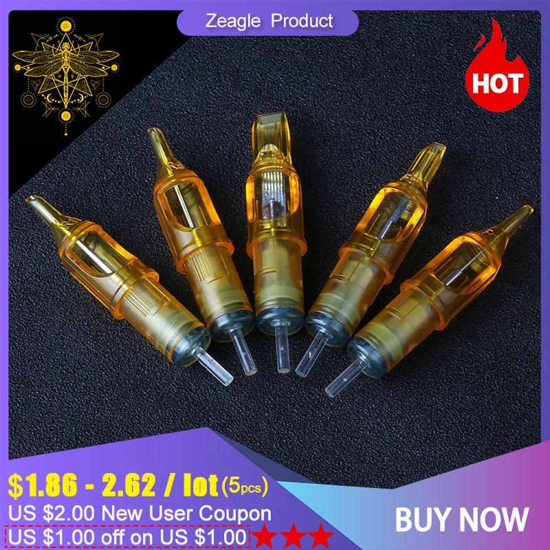 5pcs Tattoo Cartridge Needles Disposable Makeup For Microblading Tattoo Machine 3RL/5RL/7RL/9RL/5M1/7M1/9M1/5RS/7RS/9RS