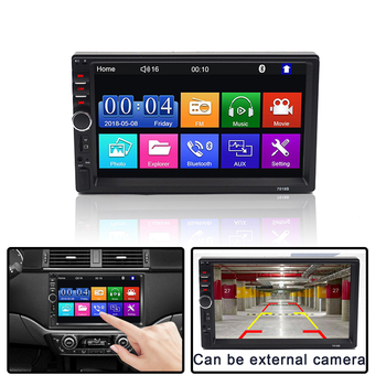 7 Inch Bluetooth Car MP5 2 Din Player Multimedia Mp5 Bluetooth USB TF FM Camera Car Stereo Mirror Link Touch Screen Player цена 2017
