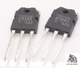 2PCS/LOT Pairing (1 Pair) New 2SC5198 2SA1941 Audio Pairing Tripole C5198 A1941