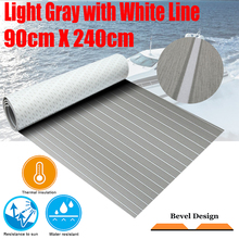 Upgraded Boat Teak Decking Sheet Yacht Marine Flooring Carpet Self Adhesive 90cm240cm/35.494.5 Light Grey In White Accessories