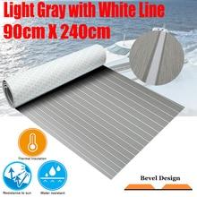 Upgraded Boat Teak Decking Sheet Yacht Marine Flooring Carpet Self Adhesive 90cm240cm/35.4