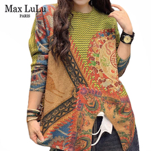 Vintage Sweaters Clothing Jumpers Max-Lulu Chinese-Fashion-Style Womens Pullovers Spring