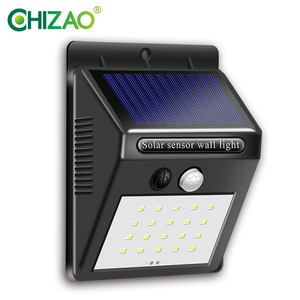 CHIZAO 20LED Wireless wall lamp Outdoor light Solar charging Motion sensing lighting. For yard, garages, front door, fence, etc.